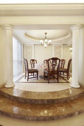 140平四房餐厅餐桌装修效果图419