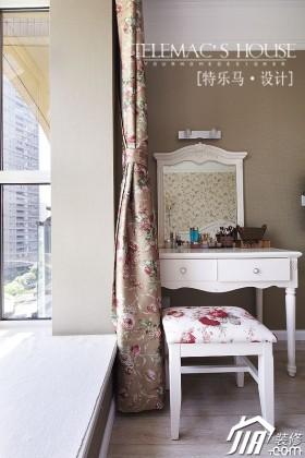 卧室背景墙梳妆台装修效果图大全2015图片
