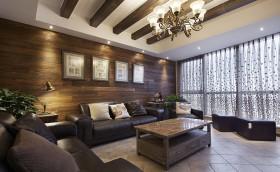 130平跃层客厅灯具装修效果图1184