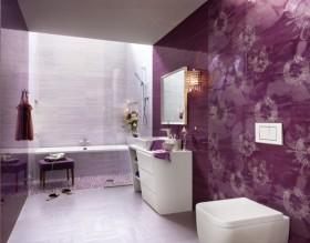 紫色卫生间装修效果图
