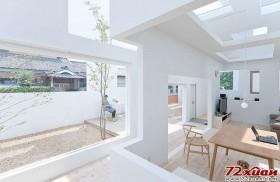 门、墙、天花板的设计都是沿袭着正正方方的矩形框。