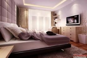 卧室从材料,色彩、灯光和家居上都是秉承简洁温馨的主题。