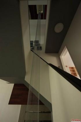 由上而下的吊灯拉伸空间感。