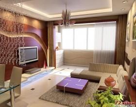 棕色与白色结合搭配的客厅色彩让人身在其中无不感到一种温暖的气息。