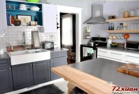 厨房采用了生活化的装修,实用被放在了首位。