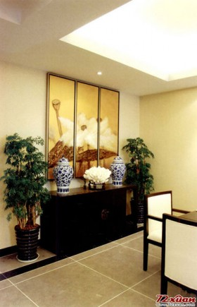 中式风格背景墙禅意的新中式风格