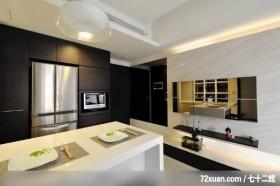 权释_22_台北市,观林室内设计工程,黄传林,厨房,冰箱收纳柜,岛型吧台,冷气摆放设计,