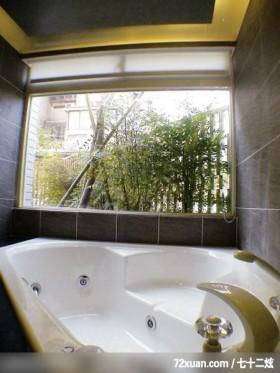肯设计_04_北市,东易日盛亚奥工作室,田伟,浴室,观景窗,造型天花板,