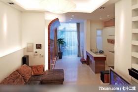 肯设计_04_北市,东易日盛亚奥工作室,田伟,客厅,隔间吧台,展示柜,无隔间设计,