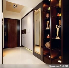 丰品_01_北县中和,觐得空间设计,游淑慧,玄关,造型天花板,收纳鞋柜,展示柜,整衣镜,