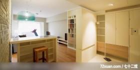 妙用L型柜子给空间新的定义,北京泰吉伟邦设计公司,马豪,客厅,书柜,造型桌,收纳柜,