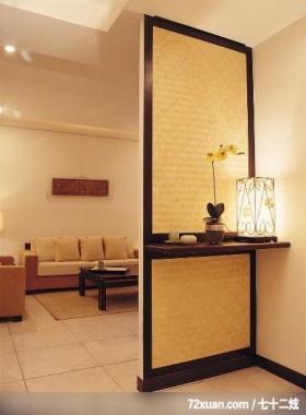 装潢便利通_44,摩登雅舍室内装修,蓝永峻,客厅,隔屏,展示柜,