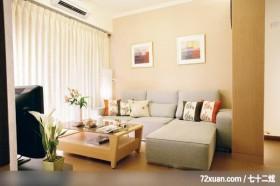 统一的色系整合,龙发,殷勇,客厅,冷气摆放设计,造型沙发背墙,阳台落地窗,