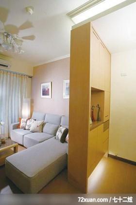 统一的色系整合,龙发,殷勇,客厅,冷气摆放设计,造型沙发背墙,展示柜,收纳鞋柜,造型天花板,