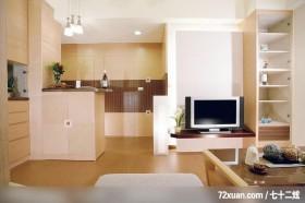 统一的色系整合,龙发,殷勇,客厅,早餐吧台,收纳柜,造型电视主墙,展示柜,隐藏门,