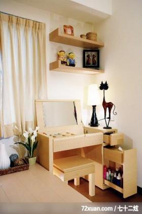 统一的色系整合,龙发,殷勇,卧室,化妆台,收纳层板,