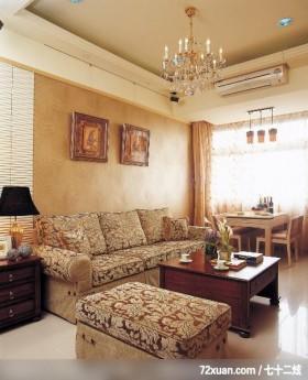 大地色系客厅,北京泰吉伟邦设计公司,高震,客厅,冷气摆放设计,造型沙发背墙,造型天花板,无隔间设计,