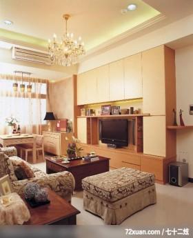 大地色系客厅,北京泰吉伟邦设计公司,高震,客厅,电视柜,冷气摆放设计,造型天花板,收纳柜,视听柜,