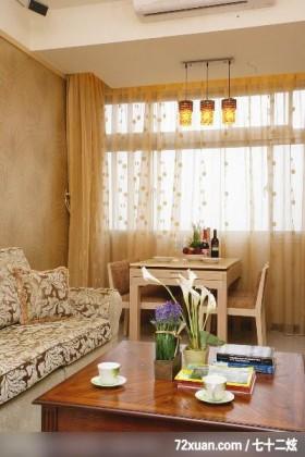 大地色系客厅,北京泰吉伟邦设计公司,高震,餐厅,造型天花板,冷气摆放设计,造型灯光,