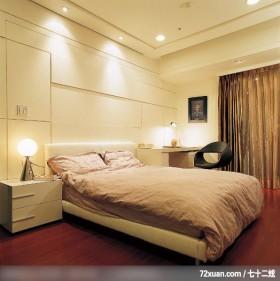 IS_47,权释设计,洪韡华,卧室,造型天花板,阅读区,造型主墙,床头柜,阳台落地窗,