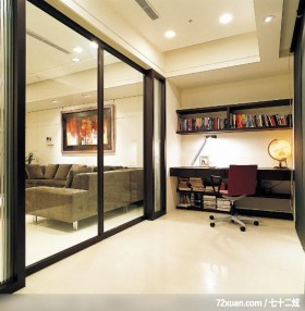 IS_47,权释设计,洪韡华,书房,穿透设计,造型天花板,书柜,阅读区,冷气摆放设计,