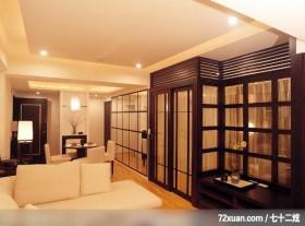 客厅,造型主墙,造型天花板,无隔间设计,穿透设计