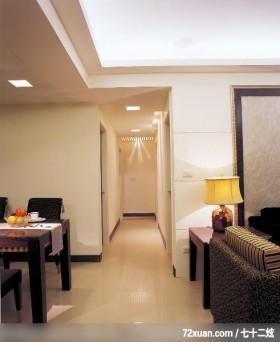 质朴典雅的三室两厅,龙发,林轶伟,走道,造型天花板,造型灯光,