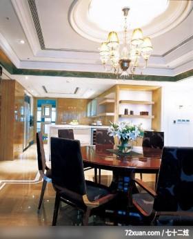 注重空间气势的混搭设计,北京上尚格室内设计有限公司,张永雷,餐厅,展示柜,隔间吧台,无隔间设计,造型