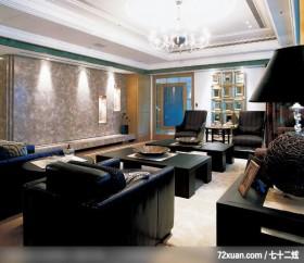 注重空间气势的混搭设计,北京上尚格室内设计有限公司,张永雷,客厅,造型电视主墙,视听柜,冷气摆放设计