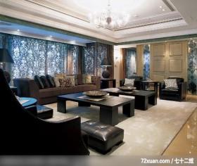 注重空间气势的混搭设计,北京上尚格室内设计有限公司,张永雷,客厅,造型沙发背墙,造型天花板,冷气摆放