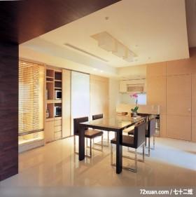 动动格局轻易让小空间展现大气度,北京上尚格室内设计有限公司,张永雷,餐厅,隐藏门,拉门,造型天花板,
