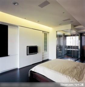 动动格局轻易让小空间展现大气度,北京上尚格室内设计有限公司,张永雷,卧室,穿透设计,电视墙,造型天花