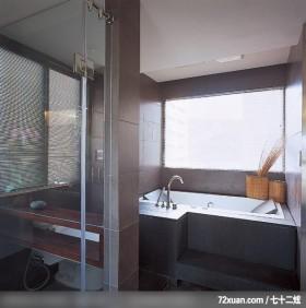 动动格局轻易让小空间展现大气度,北京上尚格室内设计有限公司,张永雷,浴室,观景窗,干湿分离隔间,造型