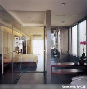 动动格局轻易让小空间展现大气度,北京上尚格室内设计有限公司,张永雷,浴室,透明隔间,观景窗,阳台落地