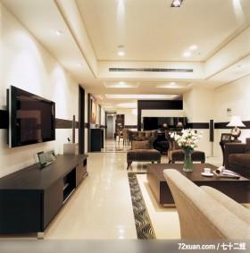 出色的现代古典混搭家居,龙发,董志雄,客厅,视听柜,造型电视主墙,冷气摆放设计,造型天花板,钢琴区,