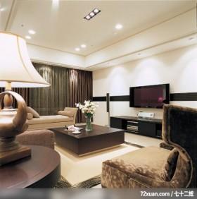 出色的现代古典混搭家居,龙发,董志雄,客厅,造型电视主墙,视听柜,阳台落地窗,