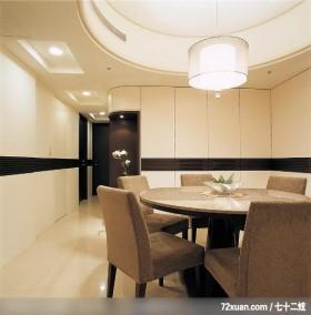 出色的现代古典混搭家居,龙发,董志雄,餐厅,造型天花板,餐具收纳柜,造型主墙,冷气摆放设计,
