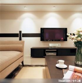 出色的现代古典混搭家居,龙发,董志雄,客厅,造型电视主墙,视听柜,