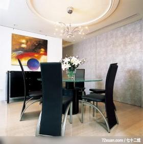 格局一变换新颜,东易日盛CBD工作室,李文剑,餐厅,造型主墙,餐具收纳柜,隐藏门,冷气摆放设计,造型
