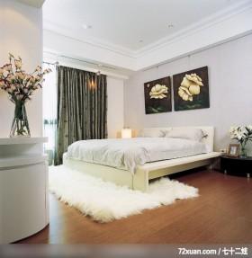 格局一变换新颜,东易日盛CBD工作室,李文剑,卧室,造型主墙,床头柜,造型灯光,阳台外推,