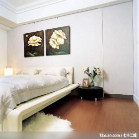 格局一变换新颜,东易日盛CBD工作室,李文剑,卧室,床头柜,隐藏门,造型主墙,