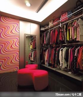 呼朋引伴又不失私密的大空间设计,东易日盛CBD工作室,赵庭辉,卧室,穿衣镜,造型主墙,造型天花板,造