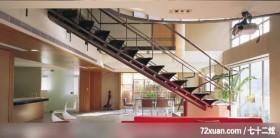 充满故事性与独特性的空间,龙发,林轶伟,客厅,造型楼梯,早餐吧台,挑高设计,阳台落地窗,