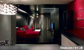 水墨空间,东易日盛亚奥工作室,石海峰,客厅,造型天花板,造型电视主墙,收纳层板,垫高地板,