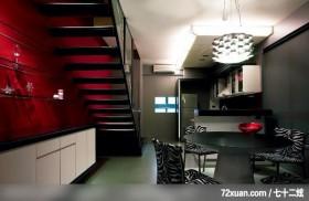 水墨空间,东易日盛亚奥工作室,石海峰,餐厅,造型天花板,造型灯光,冷气摆放设计,收纳柜,