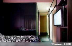 水墨空间,东易日盛亚奥工作室,石海峰,卧室,电视墙,
