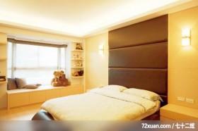 别墅造就现代美感,北京上尚格室内设计有限公司,张永雷,卧室,造型主墙,床头柜,阳台落地窗,收纳层板,