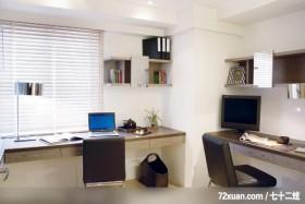 古典设计风格,龙发,王晶,卧室,造型书桌,造型天花板,书架层板,阅读区,