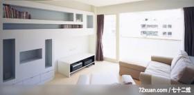 石坊_07_北市,观林室内设计工程,黄传林,客厅,电视柜,视听柜,收纳柜,阳台落地窗,造型天花板,
