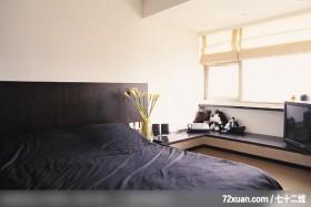 觐得_72_北市木栅,觐得空间设计,游淑慧,卧室,造型天花板,电视柜,